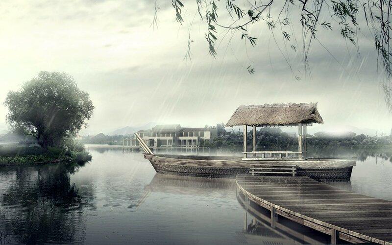 Красивые китайские пейзажи. Фотографии природы Китая, похожей на картины 0 1c4d5b a574fb35 XL