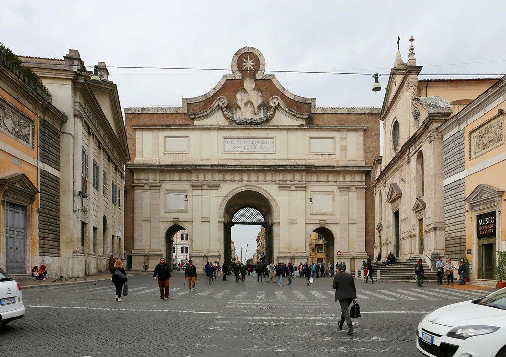 Рим. Ворота Пополо (Porta del Popolo)