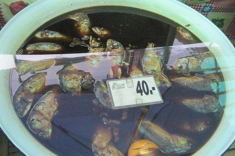 Рыба в рыбном соусе (?) на рынке Талинг Чан