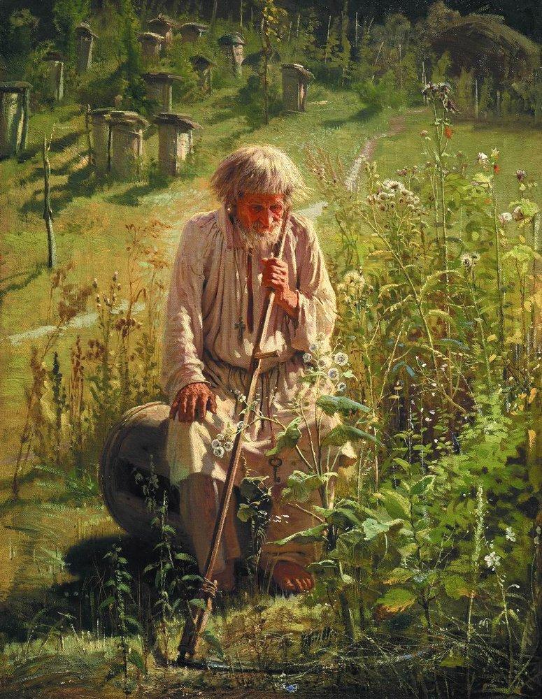 Пасечник - Иван Николаевич Крамской. 1872. Холст, масло. 63х49 pasechnik-kramskoi .jpg