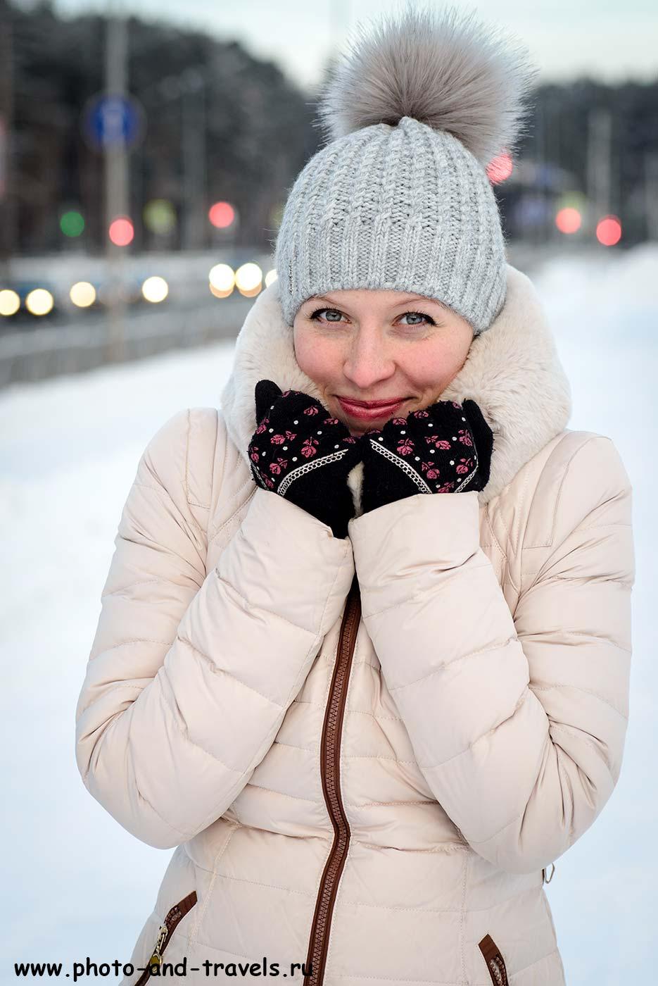 12. Прогулка на морозе. Портрет, снятый на макрообъектив Тамрон 90/2,8 (А, 90мм, f5.6, 1/125сек, ISO 250).