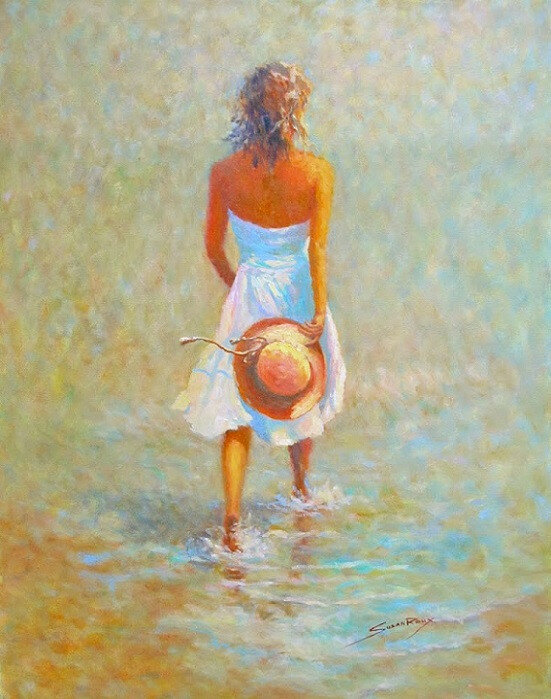 Танец у моря. Художница Susan Roux-Сьюзан Ру
