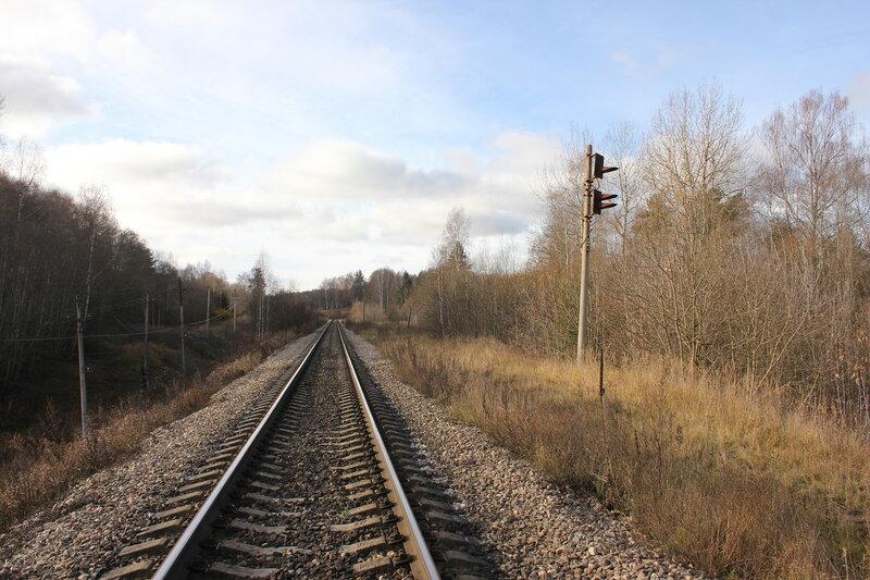 Бывшая станция Кузнецовка, вид на Себеж
