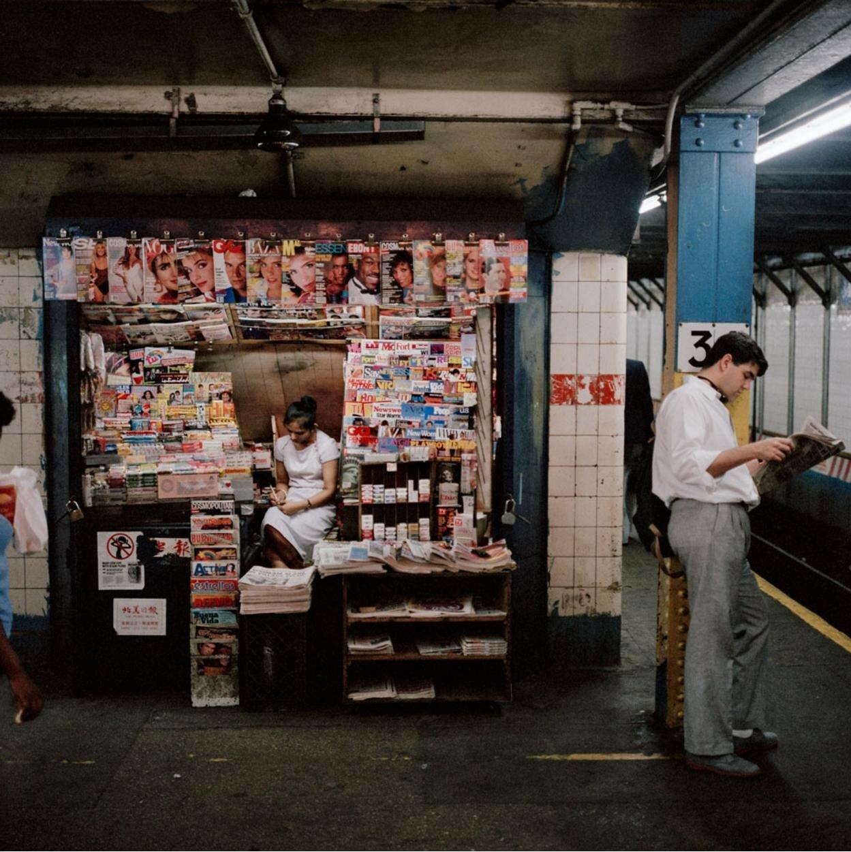 1985. Газетный киоск в метро