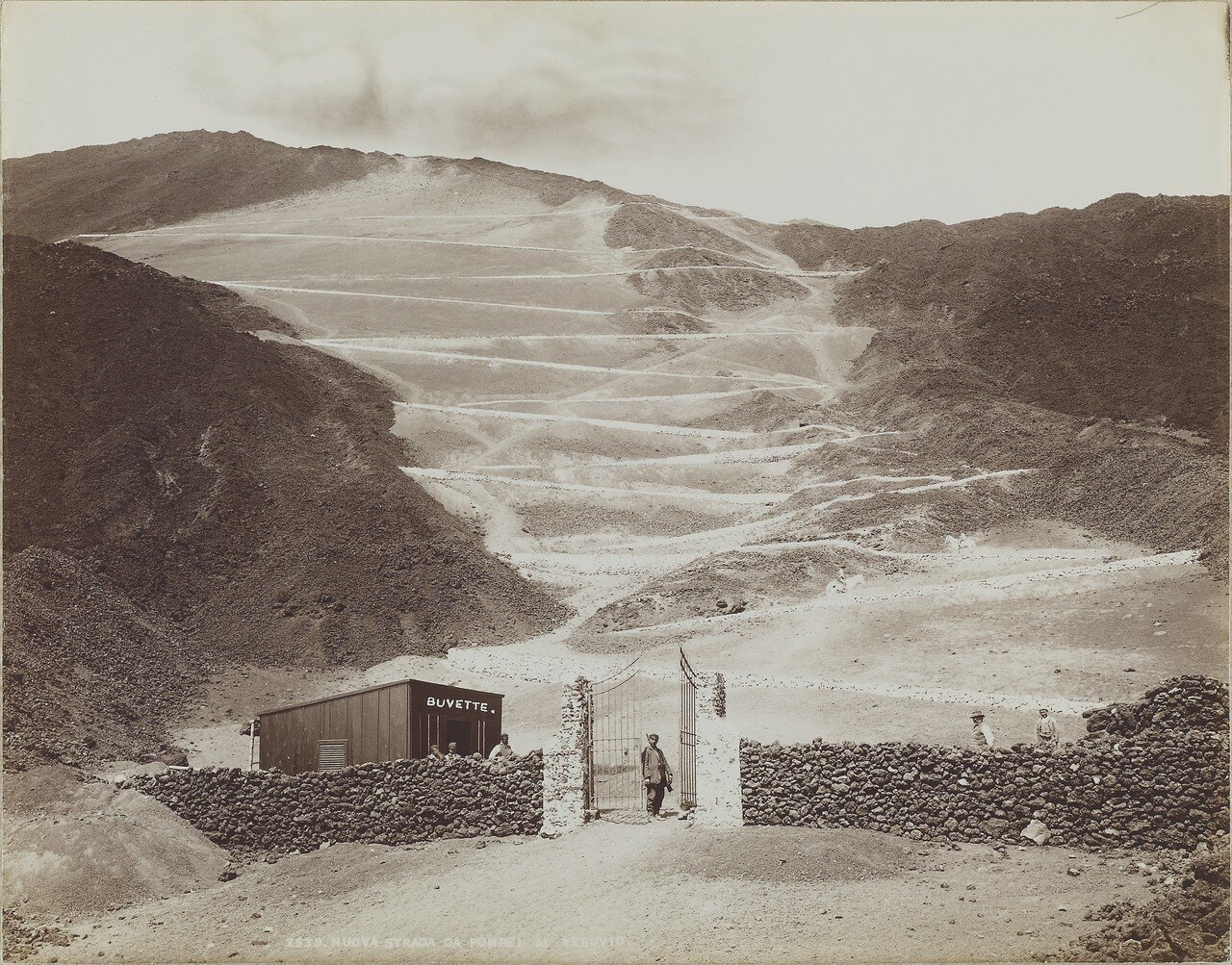 1910. Новая дорога из Помпей к Везувию