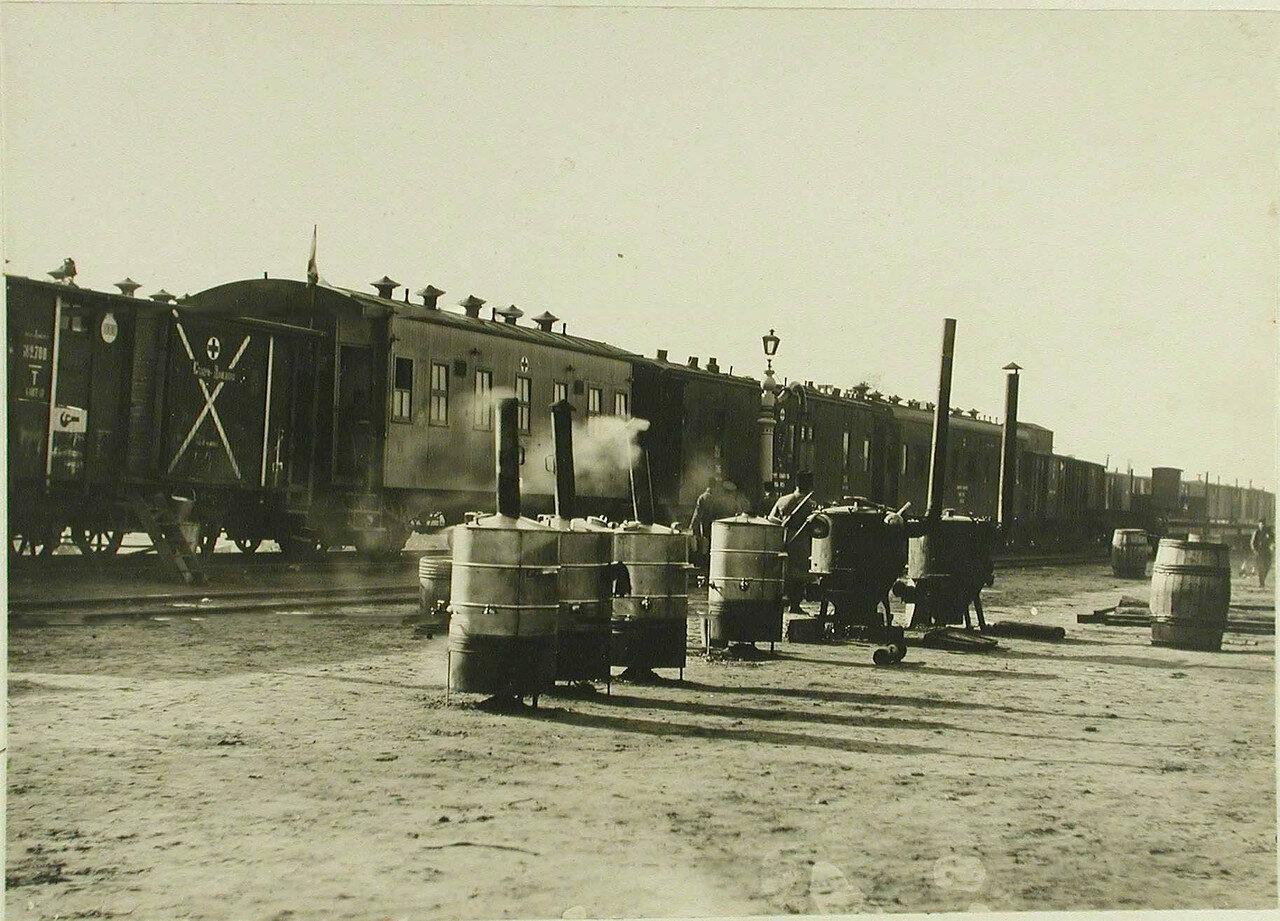 Подвижной питательный отряд № 1 на станции. ст. Полица, Волынская губ. 1914