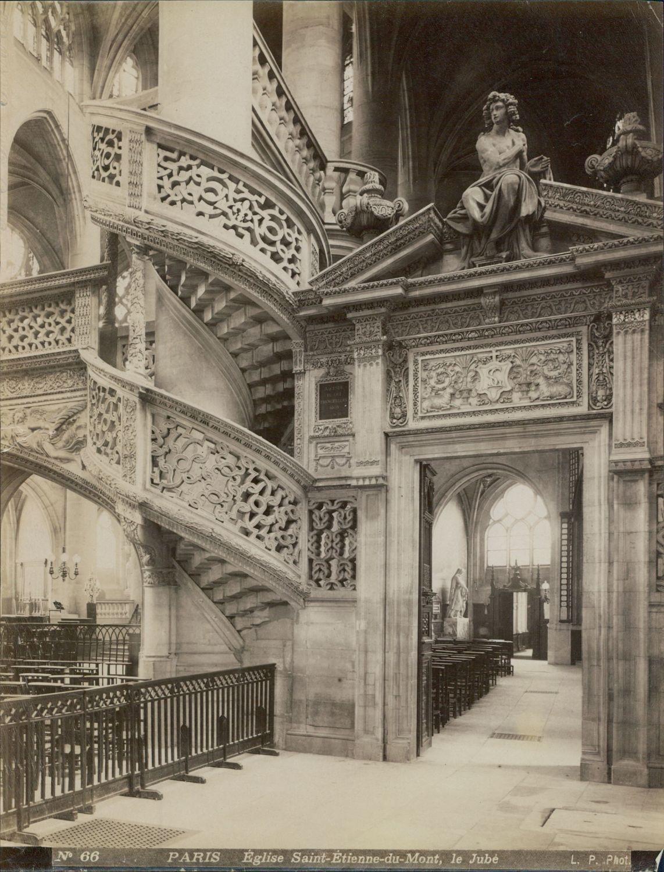 1880-е. Церковь Сент-Этьен-дю-Мон