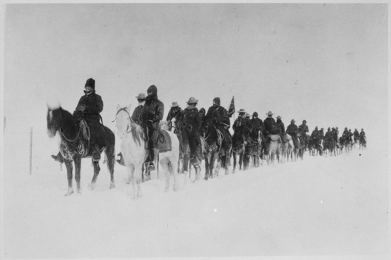 1890-91. Возвращение скаутов Кейси после резни на Вундед-Ни