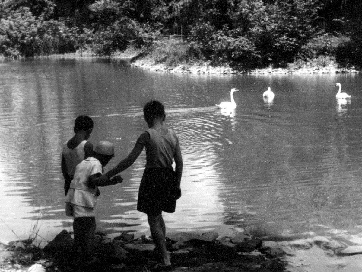 1950. Валерий Гукасов, Александр Высоцкий и Володя Высоцкий в г.Гайсин, УССР