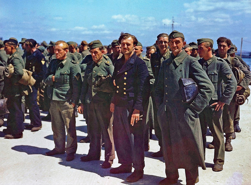 German POWs From Normandy