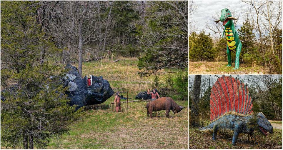 «Мир динозавров»: заброшенный тематический парк развлечений в Арканзасе