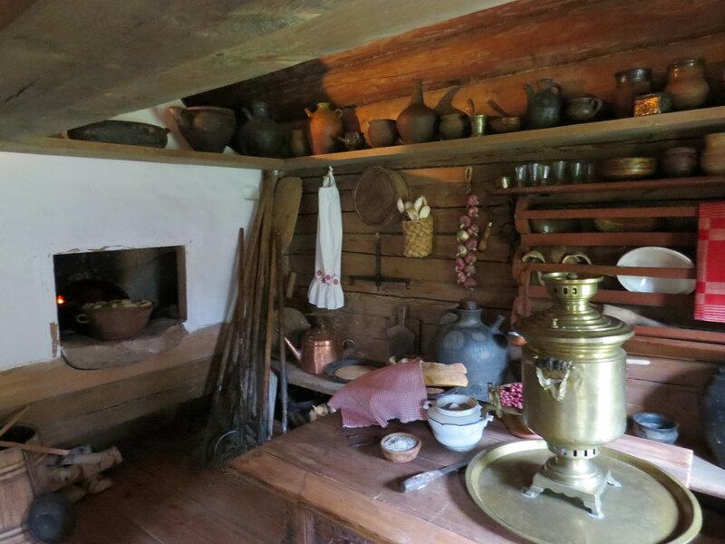 Печка в избе. Витославлицы в Великом Новгороде