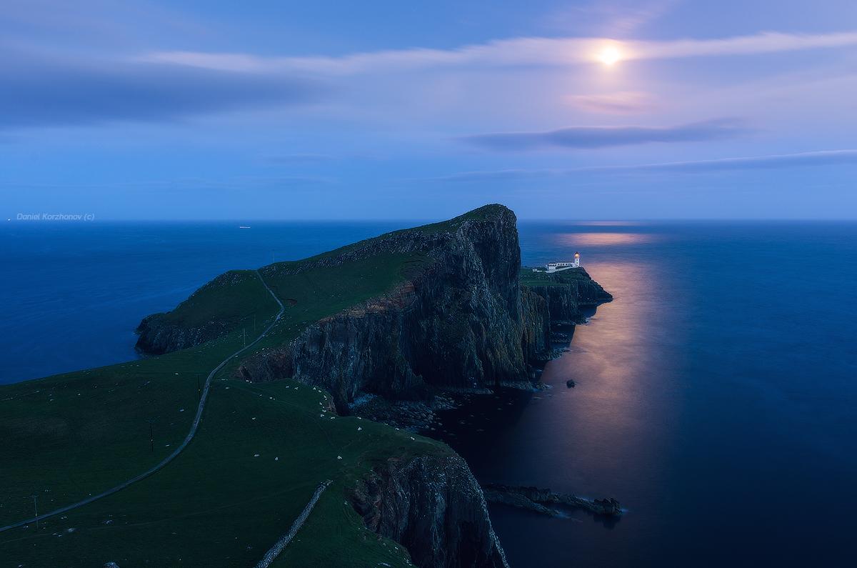 Остров Скай. Мыс Neist Point в лунном свете