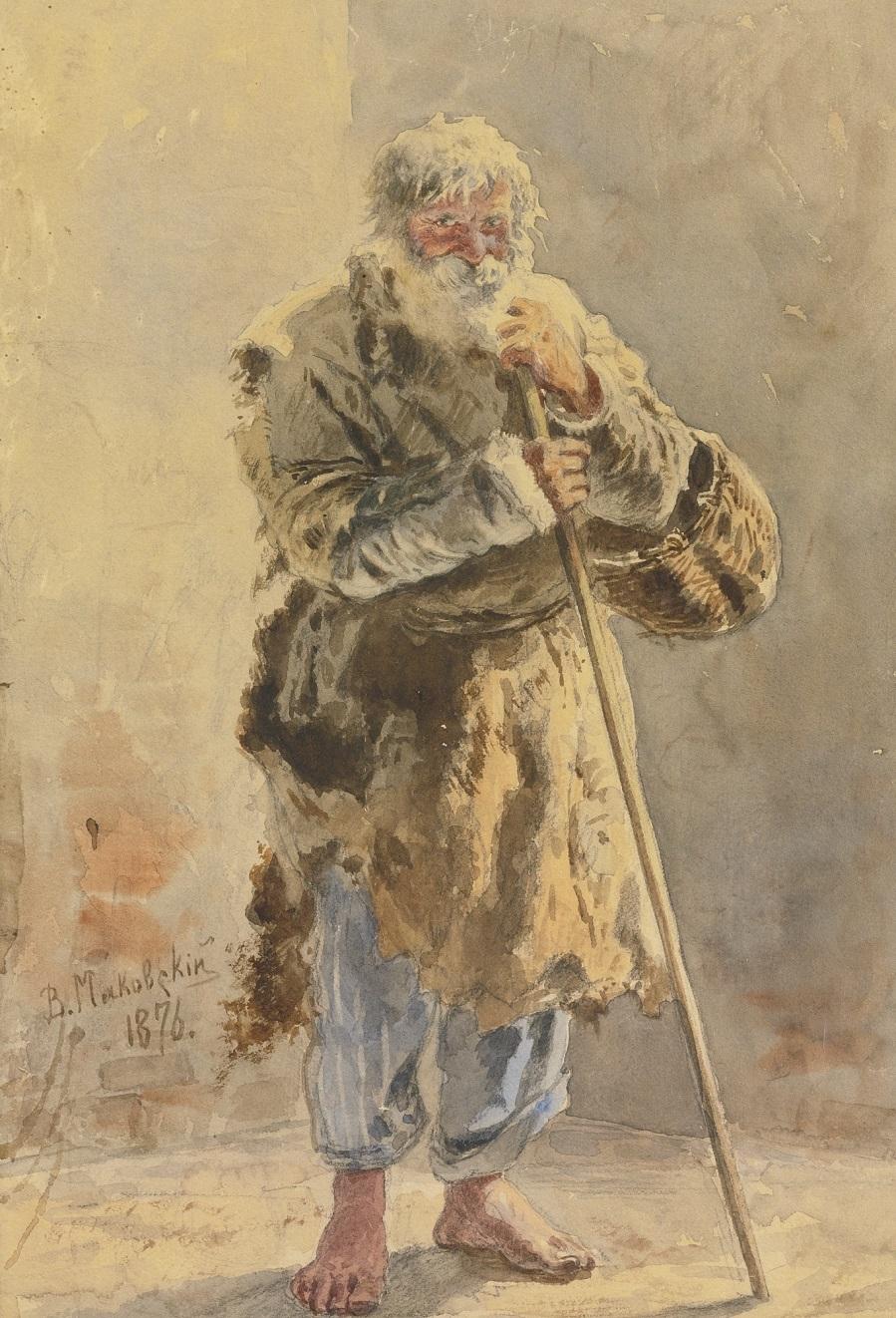 PORTRAIT OF A SERF, 1876.