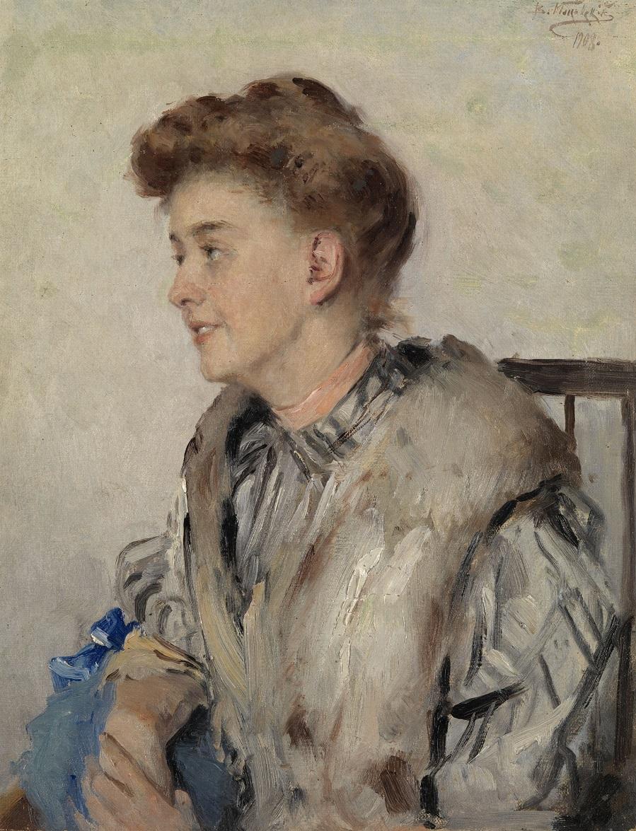 Портрет жены художника, Ольга Криштофович, 1908.