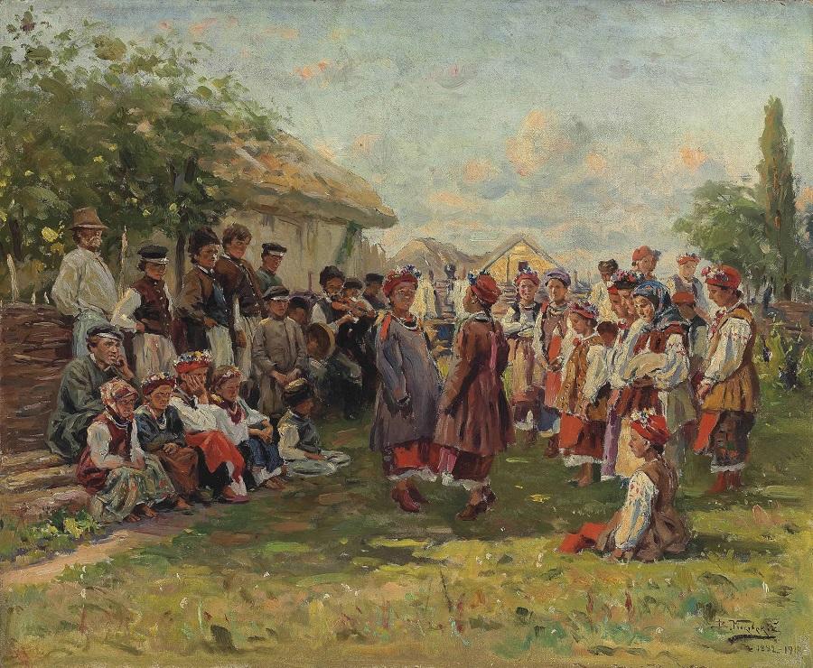Фестиваль в украинской деревне.