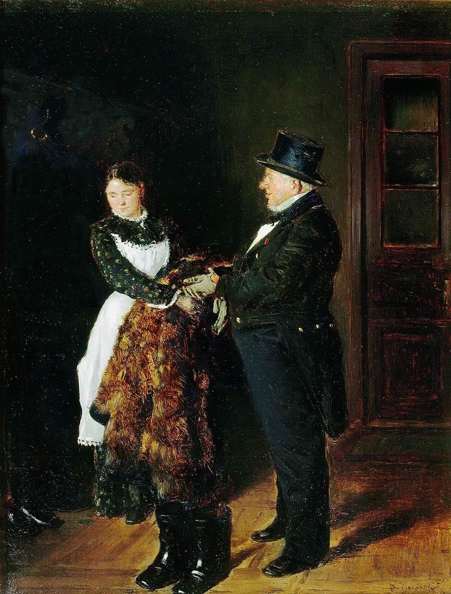 В передней. 1884 Государственная Третьяковская галерея, Москва