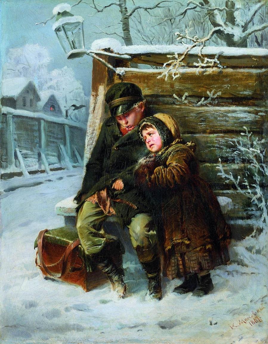 Маленькие шарманщики. 1868