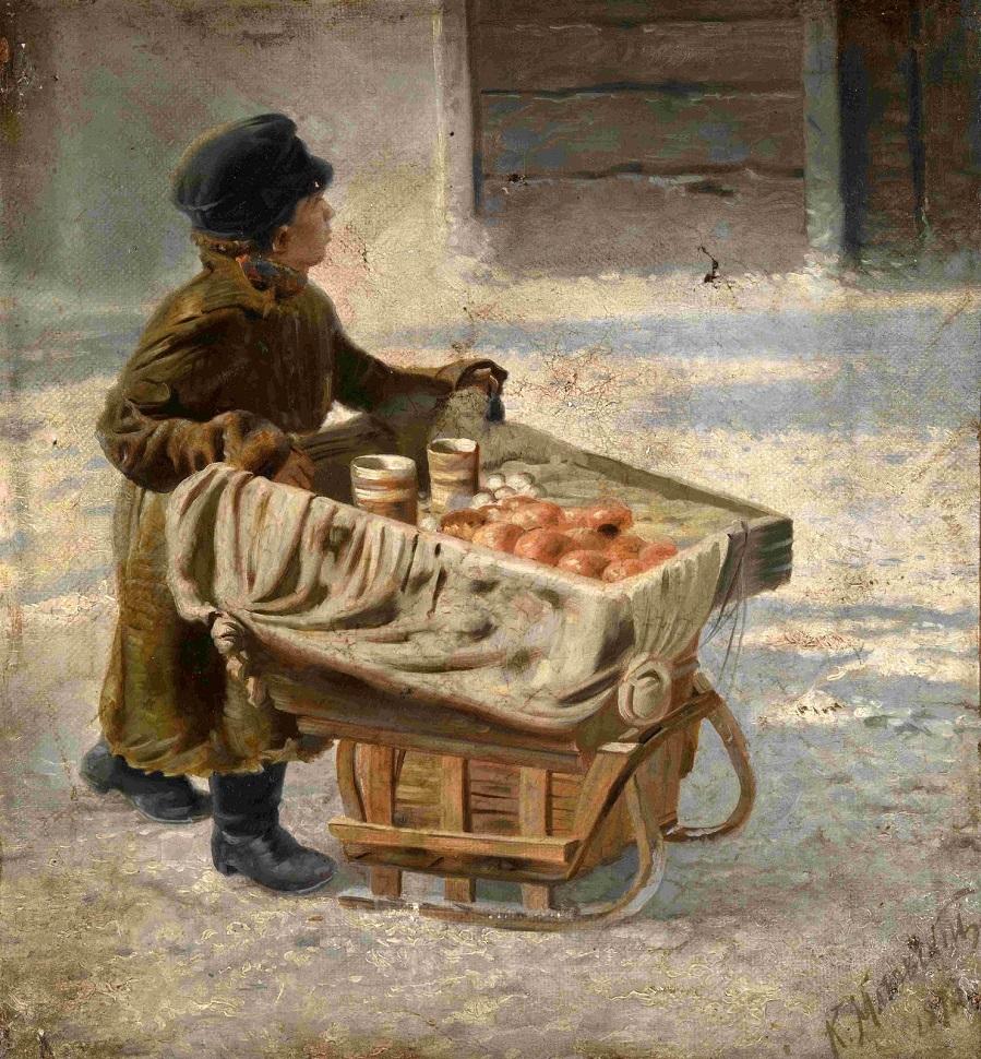 Мальчик (этюд для Масличных гуляний) Частное собрание.