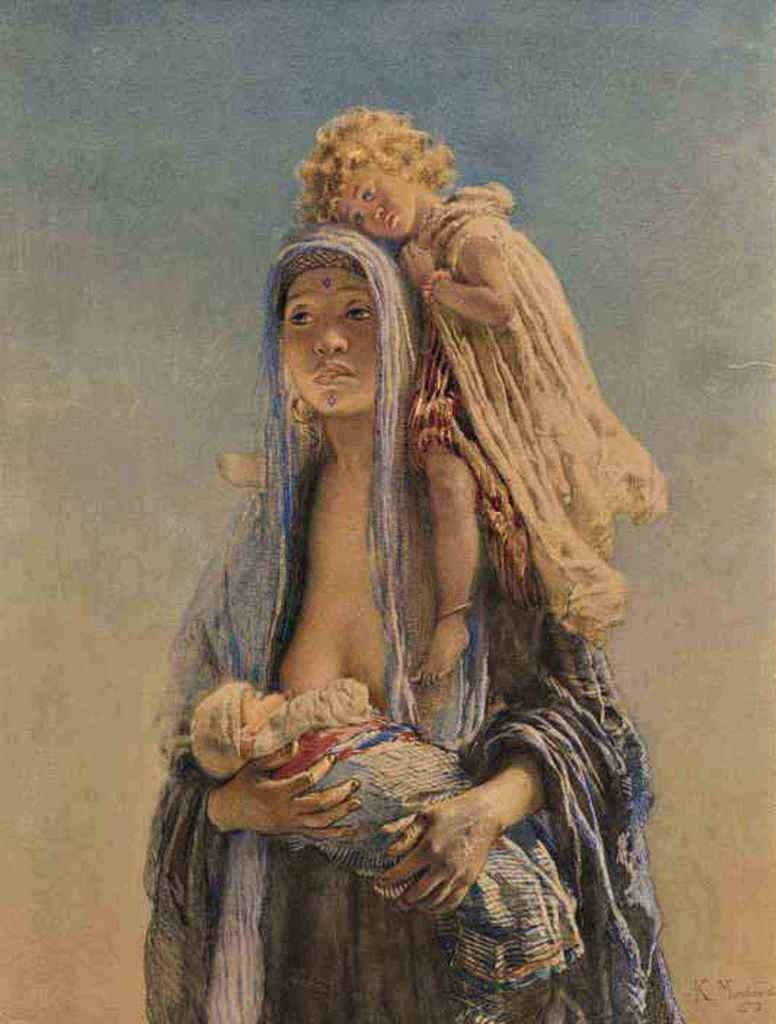 North African mother, 1875.