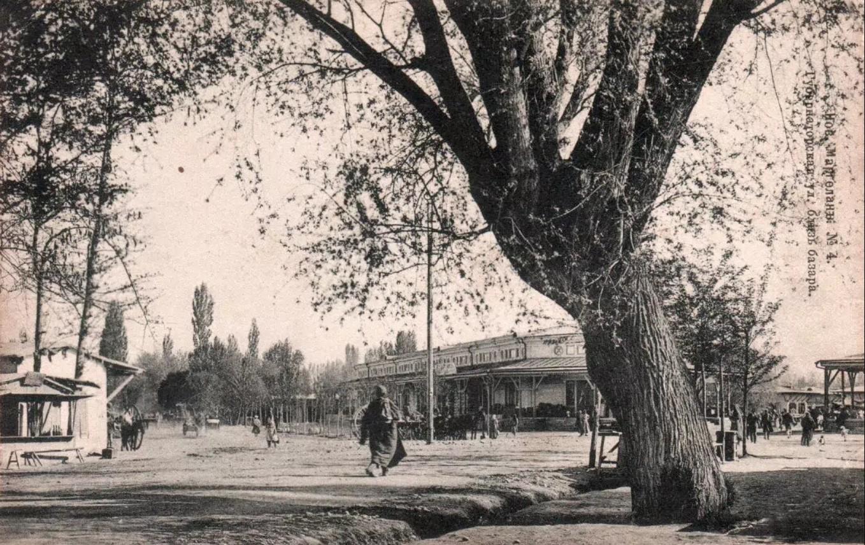 Новый Маргелан. Губернаторская улица близ базара