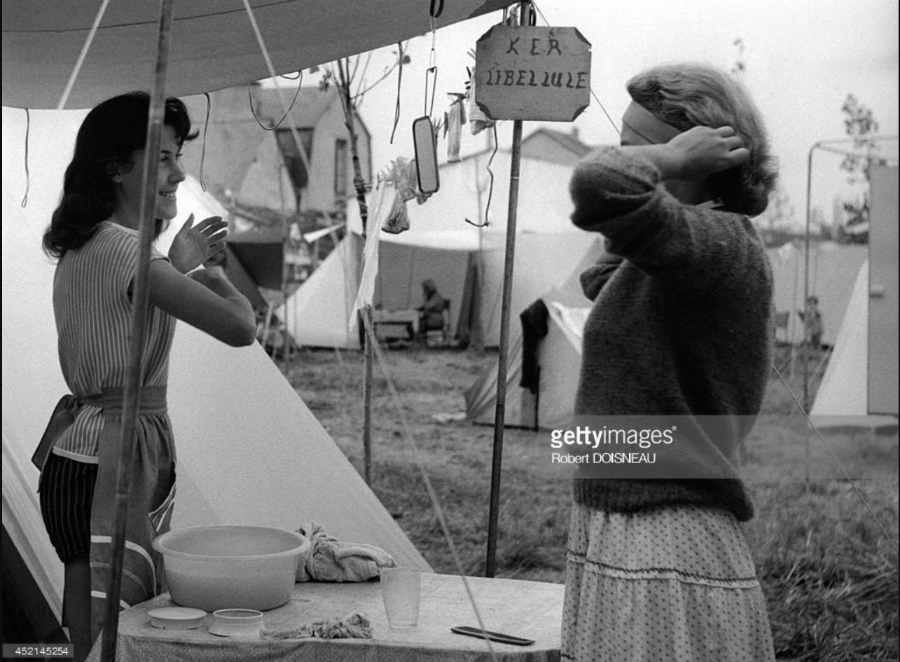 1959. Место для кемпинга. Ле Пулиген