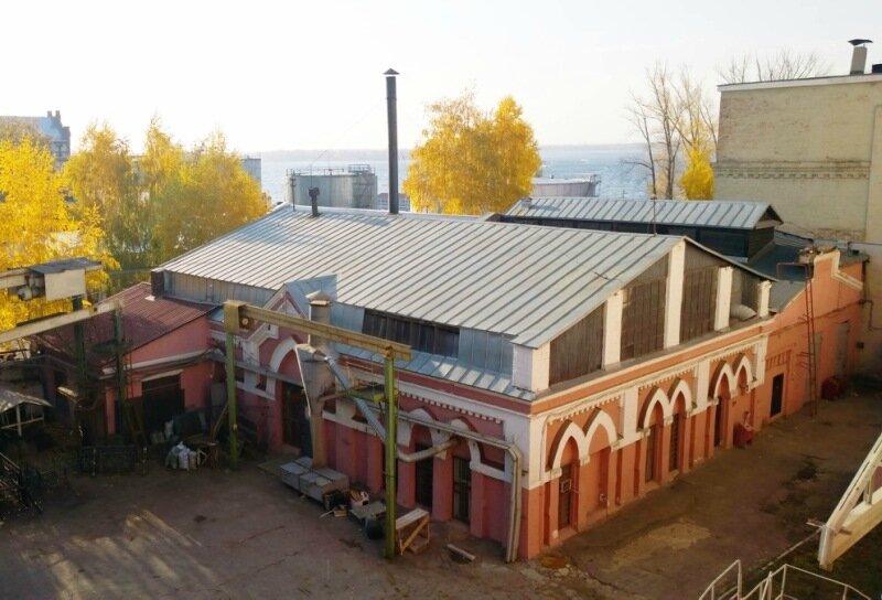 Старейшее сохранившееся производственное здание комплекса Самарской ГРЭС.  Было построено ранее 1913 года. Точная датировка неизвестна.