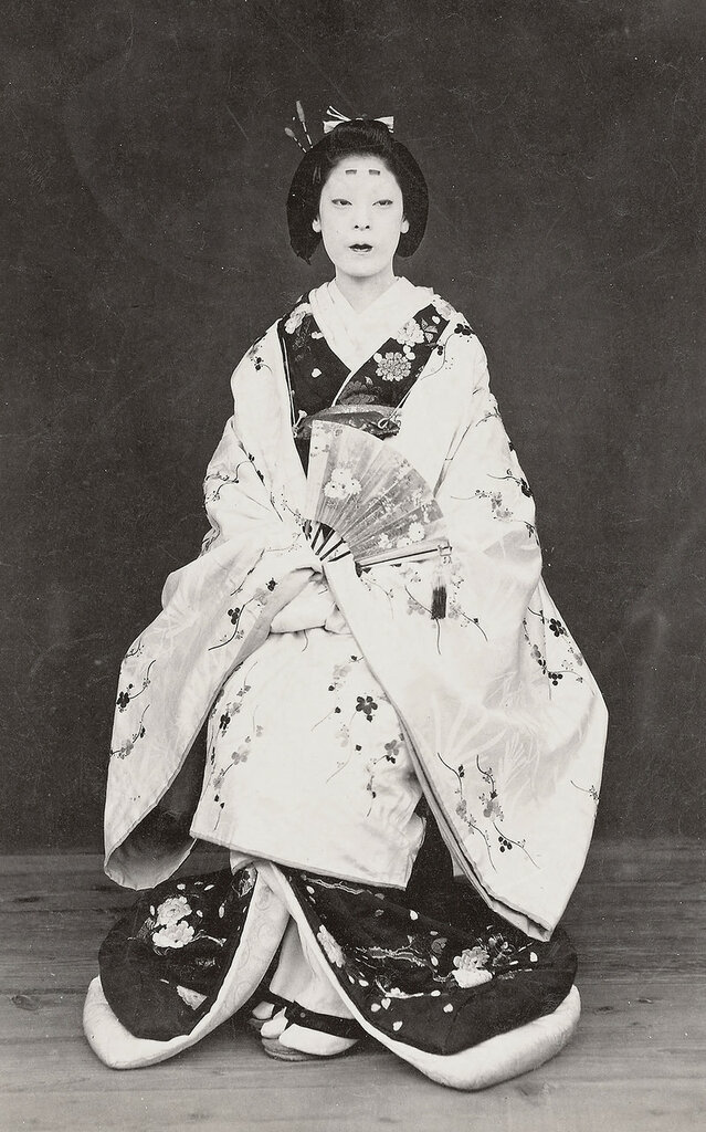Woman in formal kimono.  1870's, Japan.    Smithsonian Institution, Freer Gallery of Art and Arthur M. Sackler Gallery Archives.jpg
