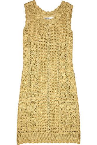 Женские платья золотое вязоное крючком