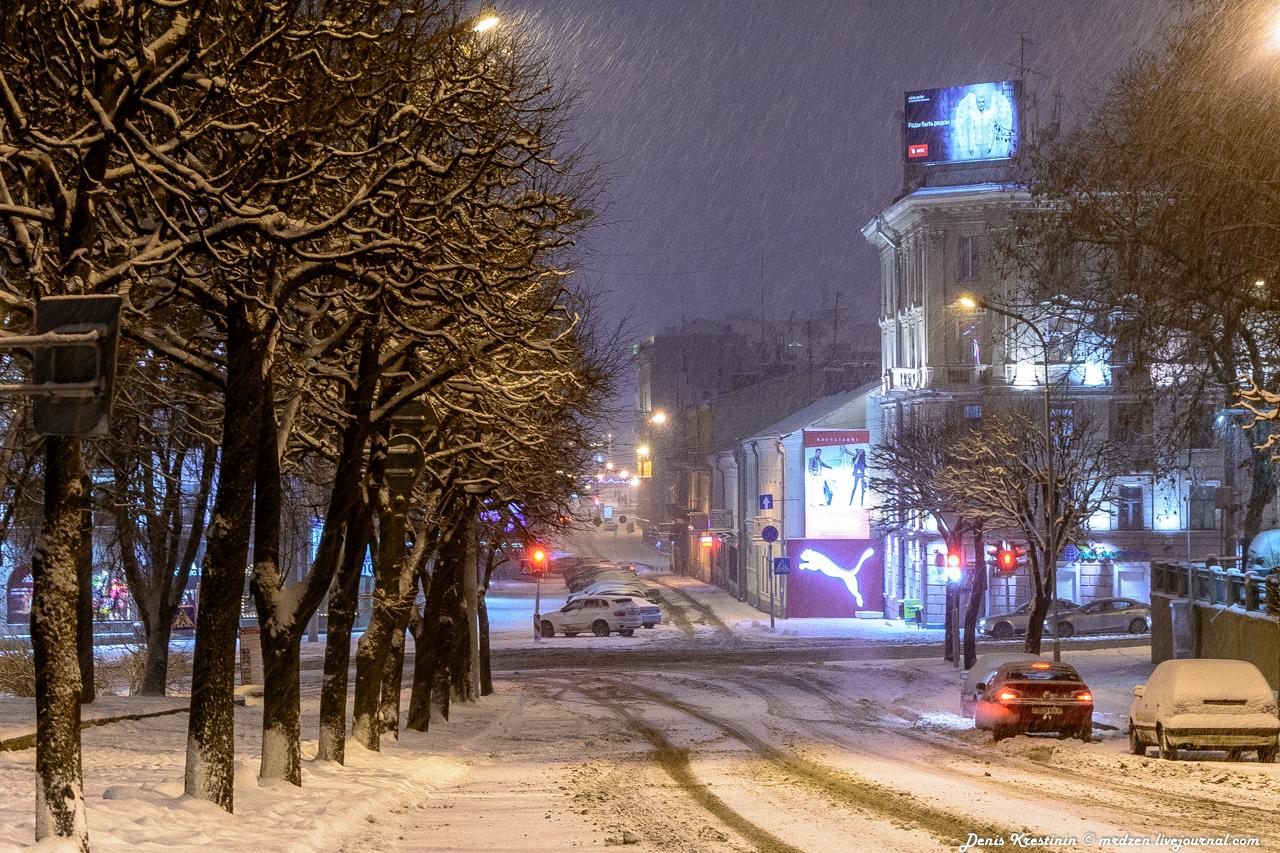 Снежный Минск. Даниелла. улица Володарского