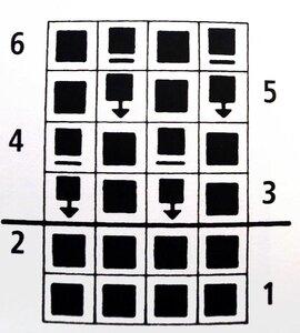 Схема вязания патентного узора Соты.