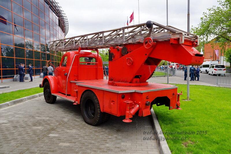 Автолестница АЛ-17 ГАЗ-61, Выставка Комплексная безопасность 2015, Москва