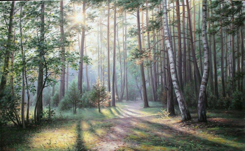 Алексей Сычёв. Лесной пейзаж.jpg