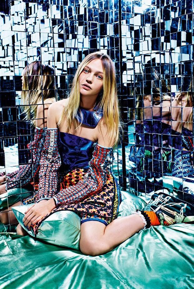 Саша Пивоварова (Sasha Pivovarova) в журнале Vogue Italia (12 фото)