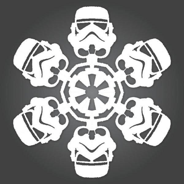 Star Wars снежинки своими руками.