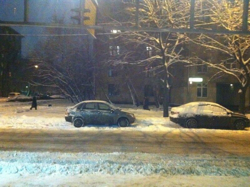 сегодняшний снежный снегопад