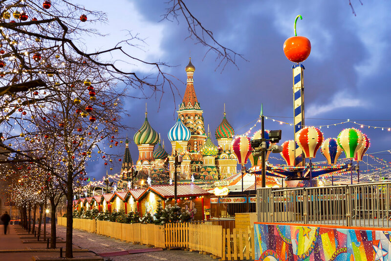 Москва. Новый год на Красной площади.