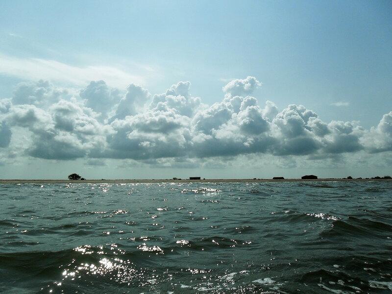 Август 2011, на яхте, у берегов Ачуевской косы