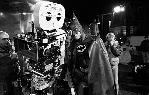 Michael Keaton on the set of Batman (1989)