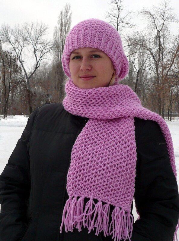 Вязаный шарф схемы