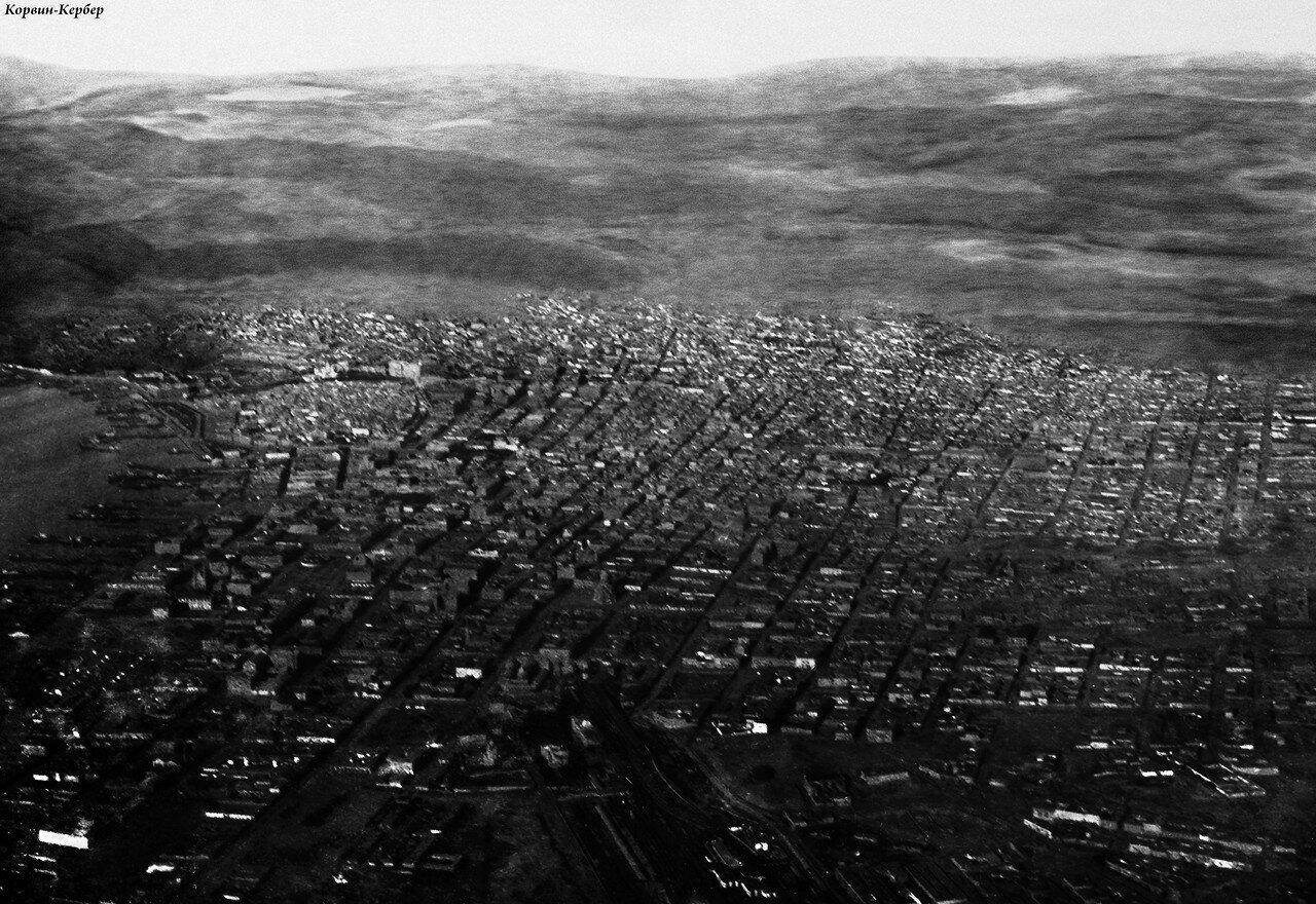 Аэрофотосъемка моря и центра города