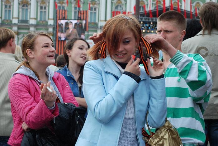 Где в Москве раздают георгиевские ленточки? 2014г.