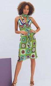 Радужный пэчворк - стильное платье для жаркого дня