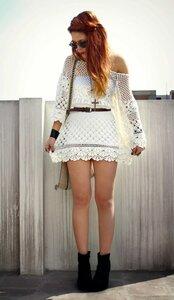 Летние грёзы - коротенькое платье крючком