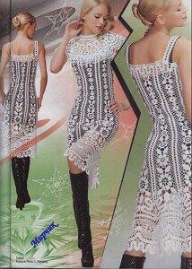 Давайте свяжем шикарное платье из ДУПЛЕТА