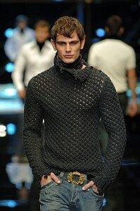 """""""Болгарский крест"""" - свитерок любимому от D&G"""