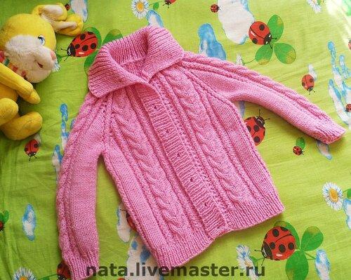 Вязание детских кофточек на девочку