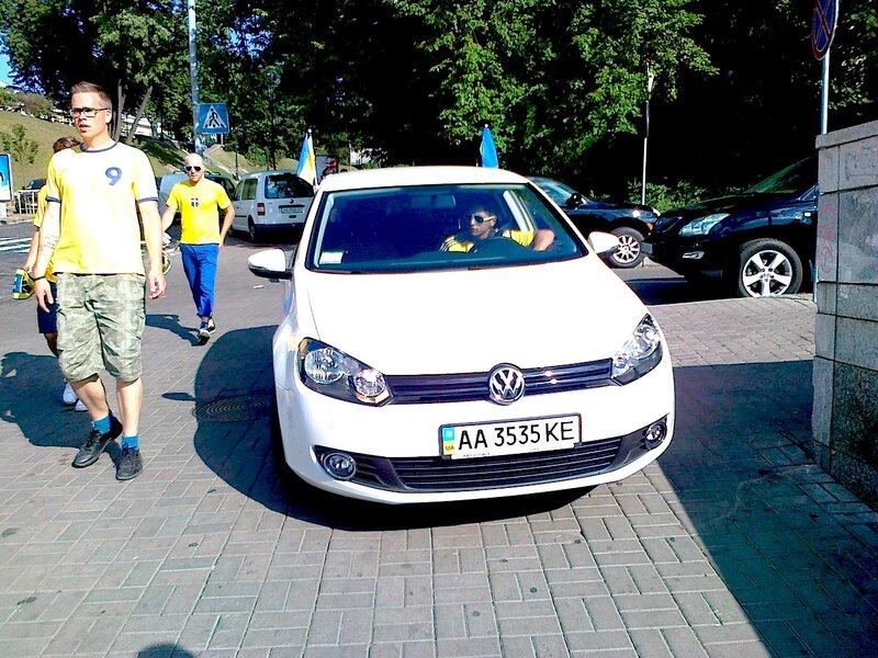Оформление автомобиля в день игры сборной Украины