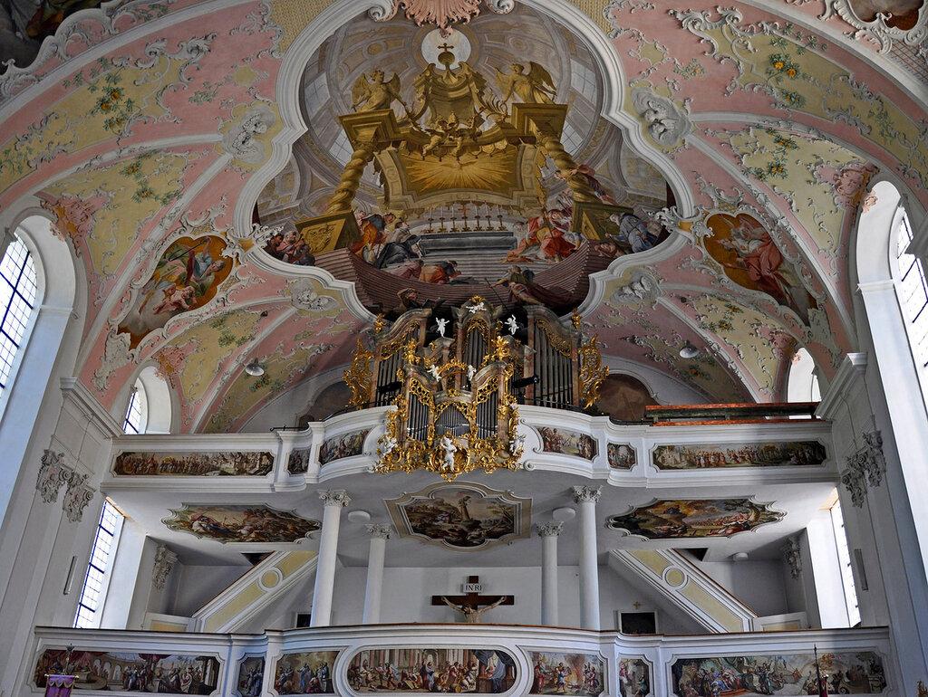 Обераммергау. Церковь Св. Петра и Павла. Орган