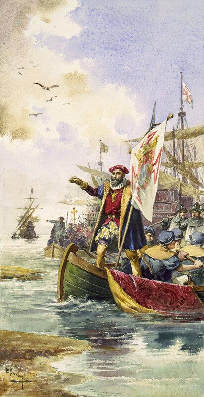 Васко Да Гама прибывает в Каликут 20 мая 1498 года
